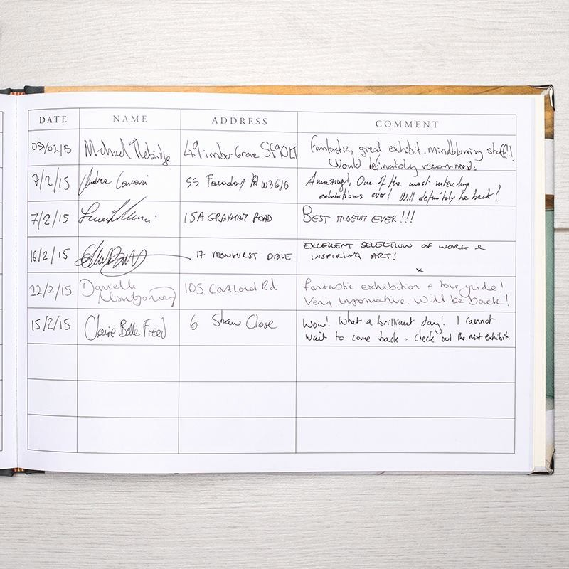 Make Your Own Address Book Beautiful Personalised Visitors Book Design A Unique Guest Book