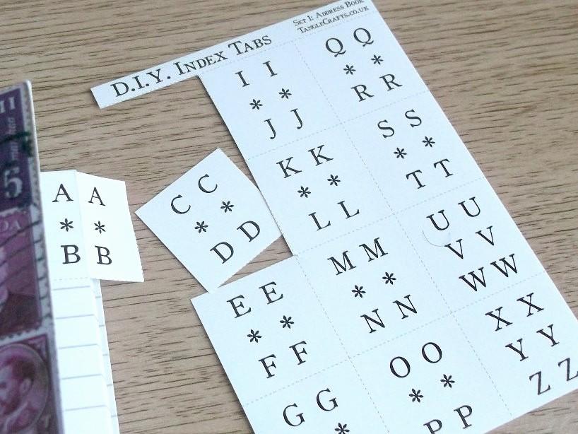 Make Your Own Address Book Elegant Index Tab Stickers Diy A Z Book Diy Diary