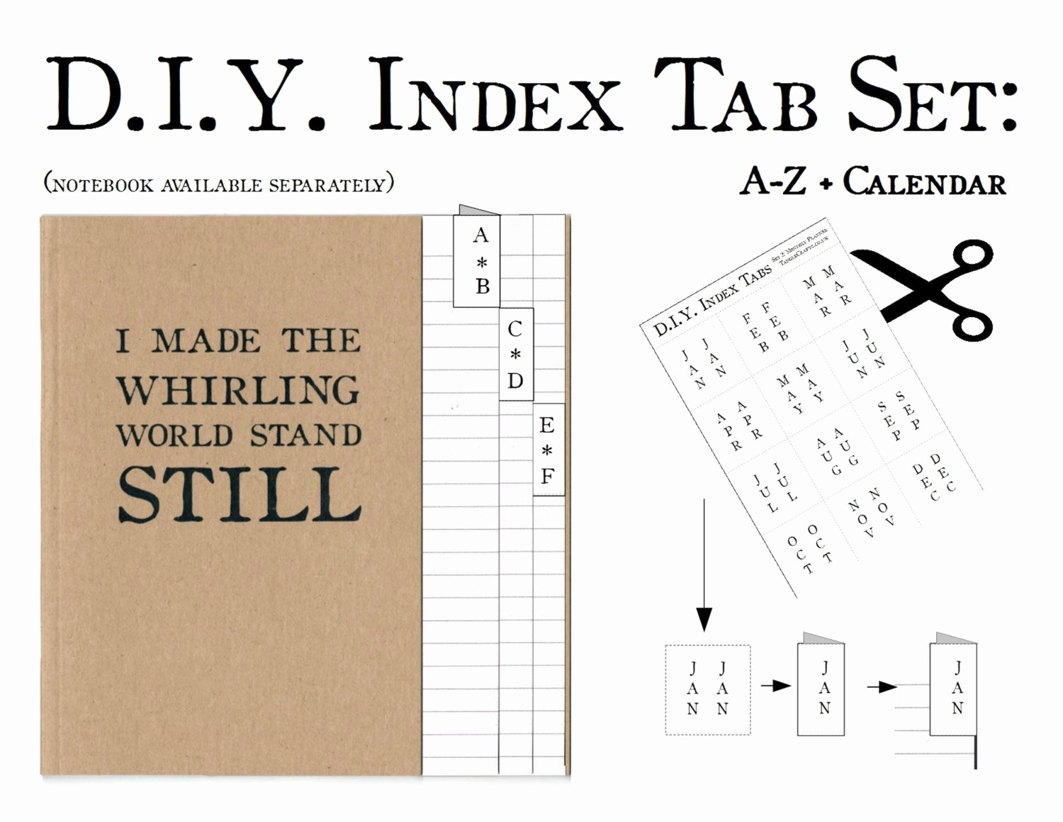 Make Your Own Address Book New Index Tab Stickers Diy A Z Book Diy Diary