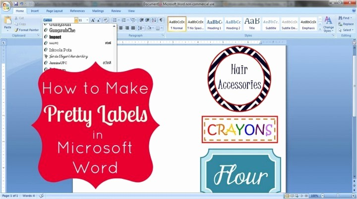 Make Your Own Address Book Unique How to Make Pretty Labels In Microsoft Word