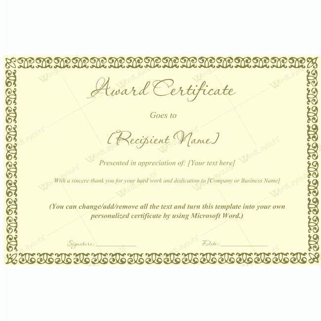 Make Your Own Certificate Templates Beautiful Design Your Own Award Certificate 99 Best Award