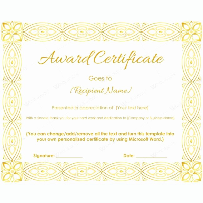 Make Your Own Certificate Templates Best Of Make Your Own Award Certificate 10 – Nounportal