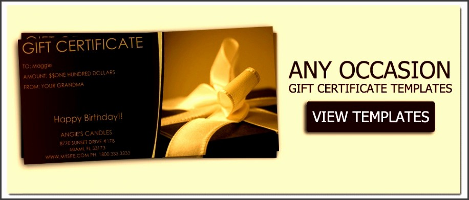 Make Your Own Certificate Templates Elegant 9 Free Template Gift Certificate Sampletemplatess