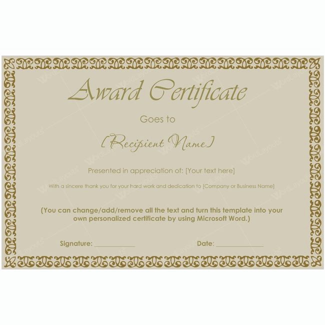 Make Your Own Certificate Templates New 99 Best Award Certificate Templates Pinterest