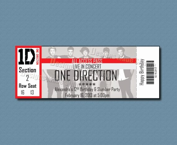 Make Your Own Concert Tickets Awesome Unavailable Listing On Etsy