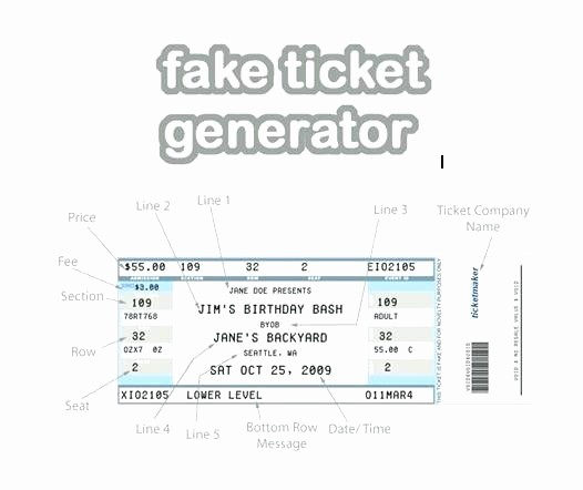 Make Your Own Concert Tickets Beautiful Fake Ticket Template Tweet Fake Disney Ticket Template