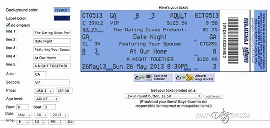 Make Your Own Concert Tickets Best Of Concert Ticket Invite
