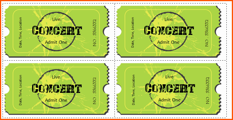 Make Your Own Concert Tickets Best Of Concert Ticket Template Word Sarahepps