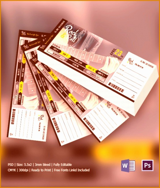 Make Your Own Concert Tickets Elegant 6 Create Your Own Concert Ticket Besttemplates