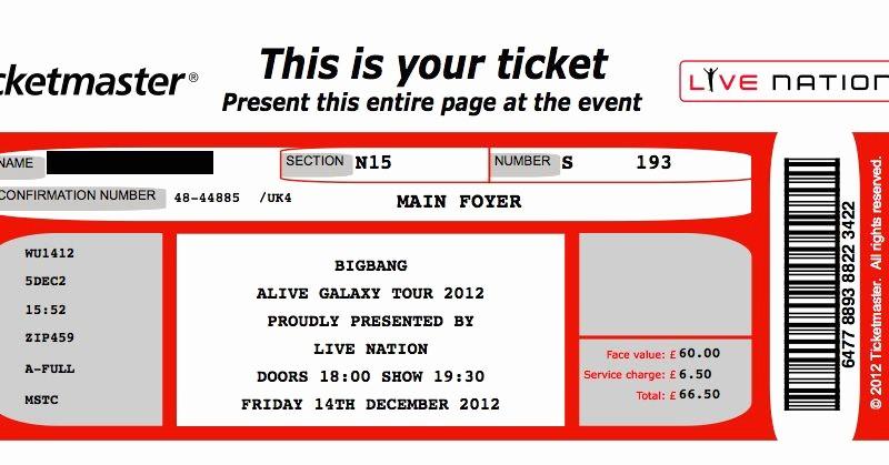 Make Your Own Concert Tickets Elegant Concert Ticket Template Free Best Make Your Own Concert
