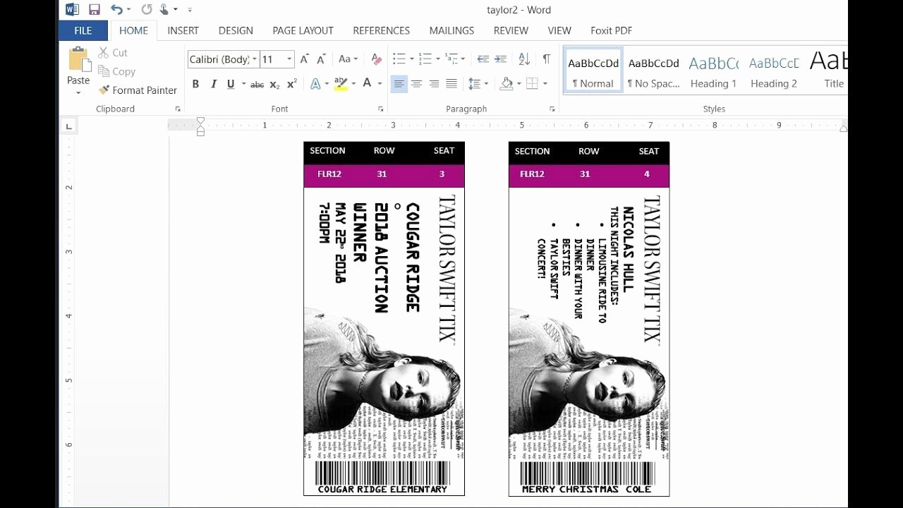 Make Your Own Concert Tickets Elegant How to Easily Make Custom Concert Tickets or Concert