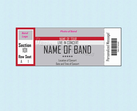 Make Your Own Concert Tickets Inspirational 26 Cool Concert Ticket Template Examples for Your event