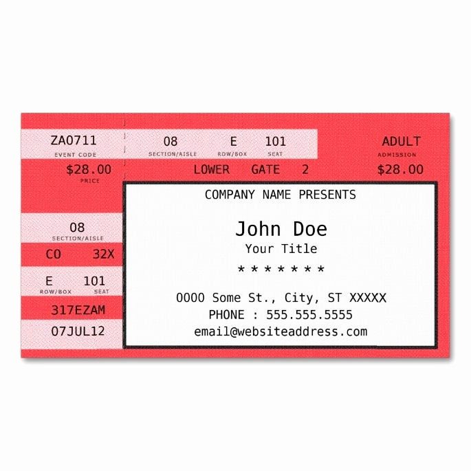 Make Your Own Concert Tickets Luxury 2150 Best Images About Music Business Card Templates On