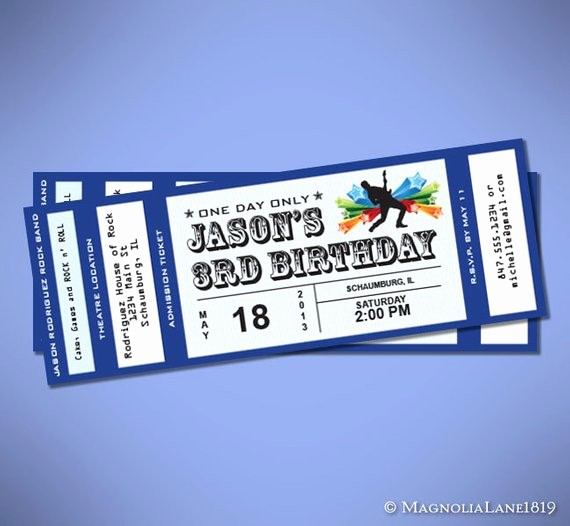 Make Your Own Concert Tickets Luxury Concert Ticket How to Make A Concert Ticket
