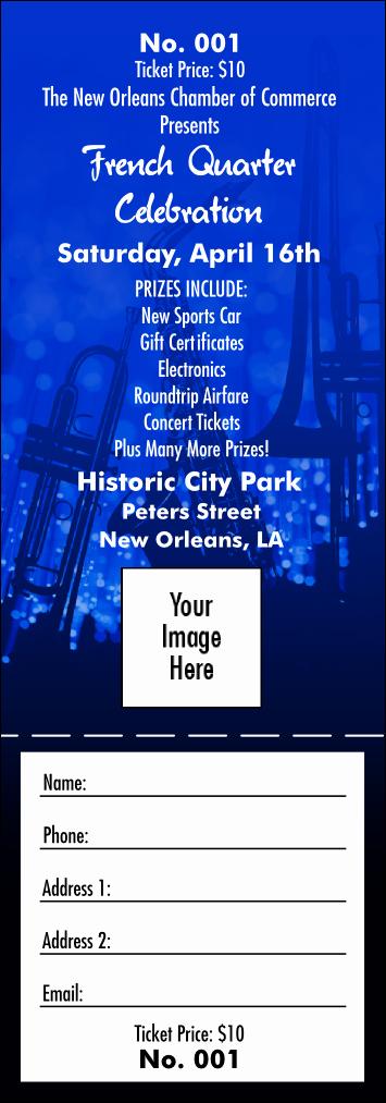 Make Your Own Concert Tickets Luxury Jazz Concert Raffle Ticket