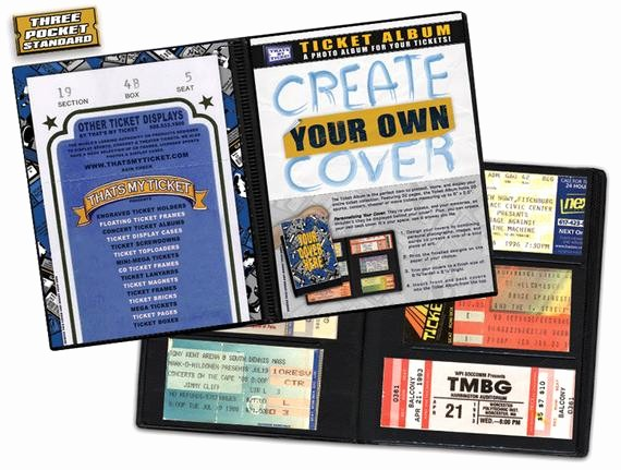 Make Your Own Concert Tickets Unique Create Your Own Cover Ticket Stub Album Concerts Movies