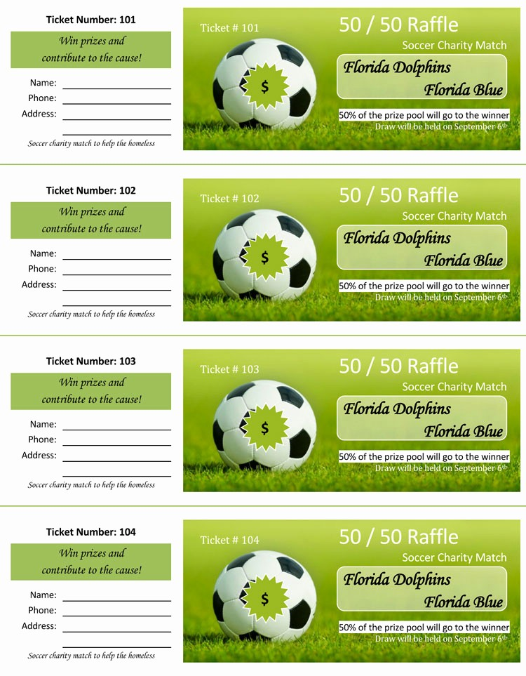 Make Your Own Ticket Template Awesome 45 Raffle Ticket Templates