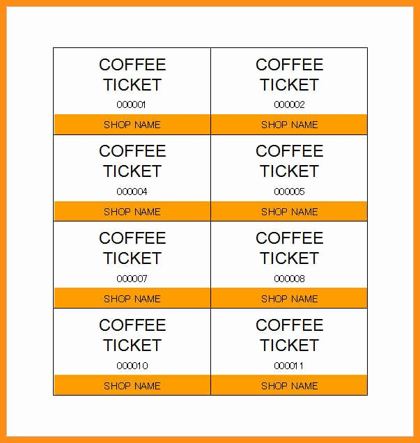 Make Your Own Ticket Template Beautiful 6 Ticket Template