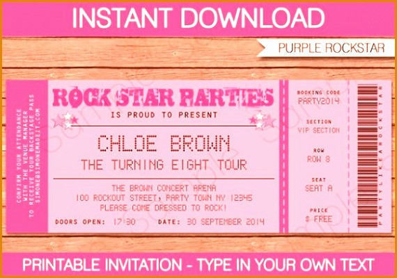 Make Your Own Ticket Template Fresh 6 Create Your Own Concert Ticket Besttemplates