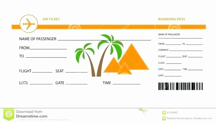 Make Your Own Ticket Template Fresh Create Fake Airline Ticket Template Plane Blank