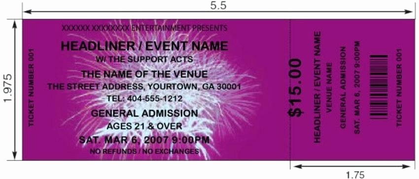 Make Your Own Ticket Template Inspirational Create Your Own Tickets Template – Usktfo