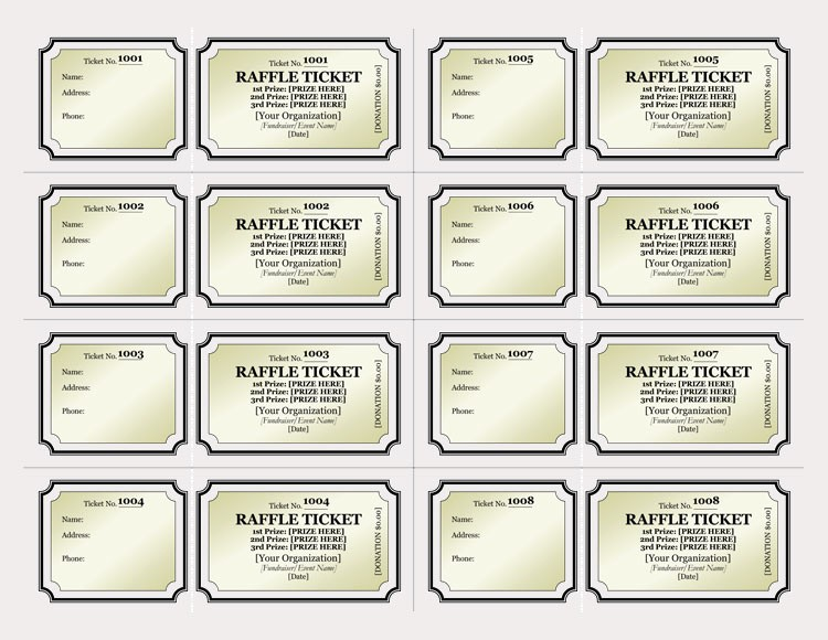 Make Your Own Ticket Template Luxury 45 Raffle Ticket Templates