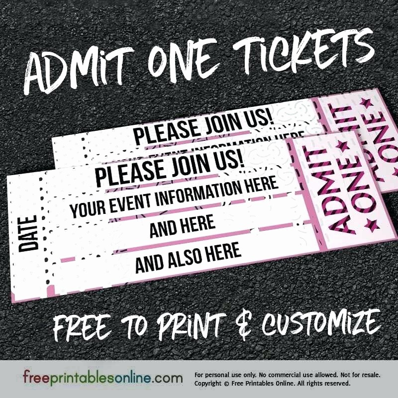 Make Your Own Ticket Template Luxury 98 Make Your Own Ticket Template Make Your Own