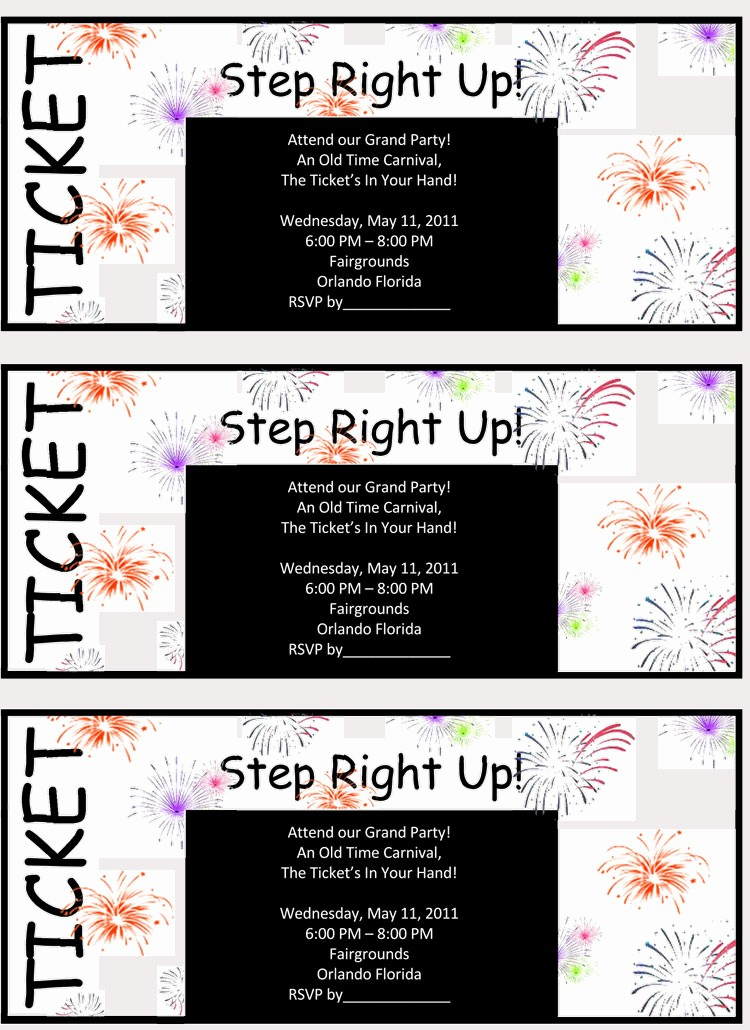 Make Your Own Ticket Template New 45 Raffle Ticket Templates