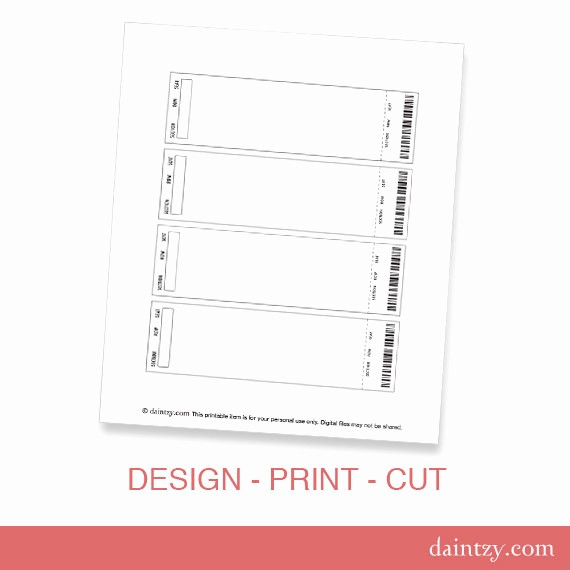 Make Your Own Ticket Template Unique event Ticket Invitation Template Printable Diy Make Your Own