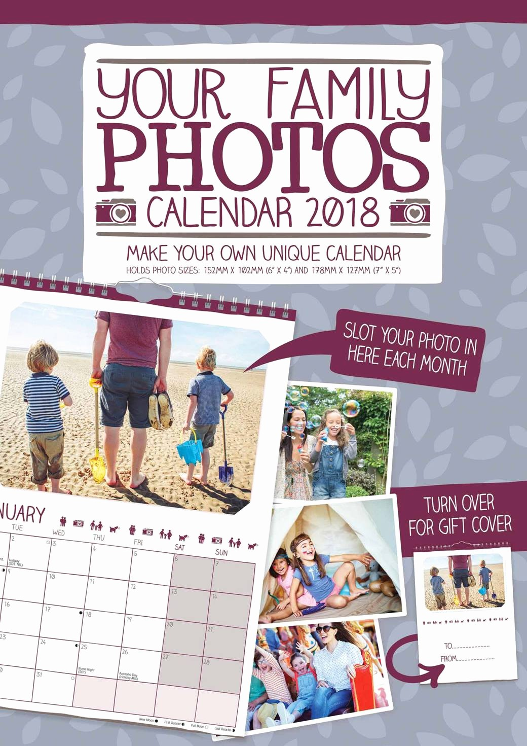 Make Your Own Weekly Calendar Awesome Your Family S A4 Calendar 2018 Calendar Club Uk