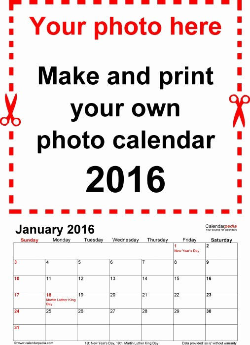 Make Your Own Weekly Calendar Best Of Create Your Own Printable Calendar