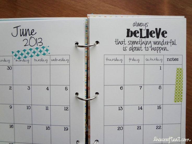 Make Your Own Weekly Calendar Elegant Best 25 Diy organizer Planner Ideas On Pinterest