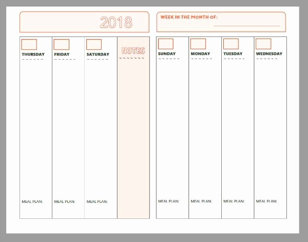 Make Your Own Weekly Calendar Inspirational Free Printable Weekly Planner 2018 Free Calendar Template