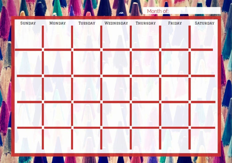 Make Your Own Weekly Calendar Inspirational Make Your Own Monthly Calendar Free Calendar Collection
