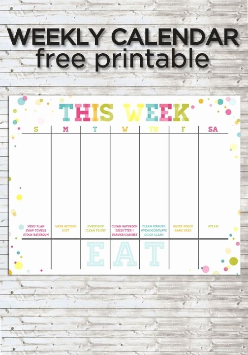 Make Your Own Weekly Calendar Lovely Make Your Own Family Calendar