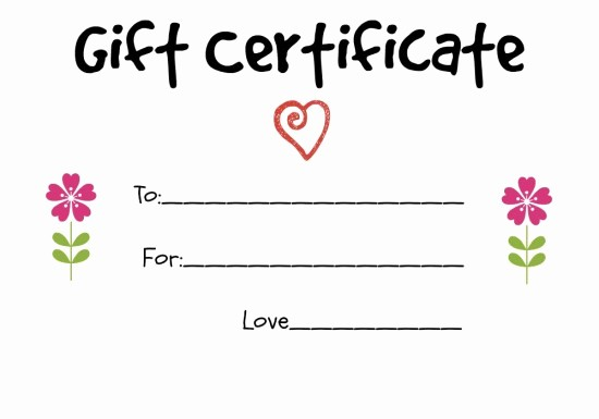 homemade t certificate ideas to give to a grandparent