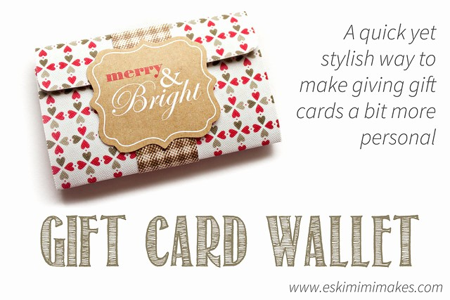 Making A Gift Certificate Free Elegant Make A Chic Gift Card Holder with Free Printable Template