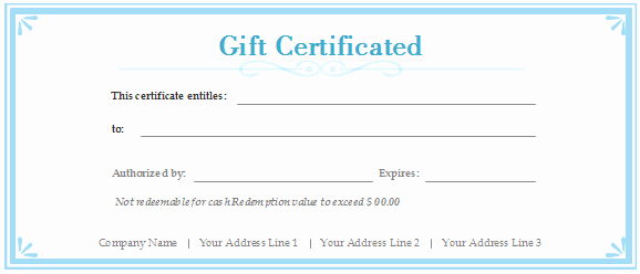 Making A Gift Certificate Free Fresh Free Gift Certificate Templates Customizable and Printable