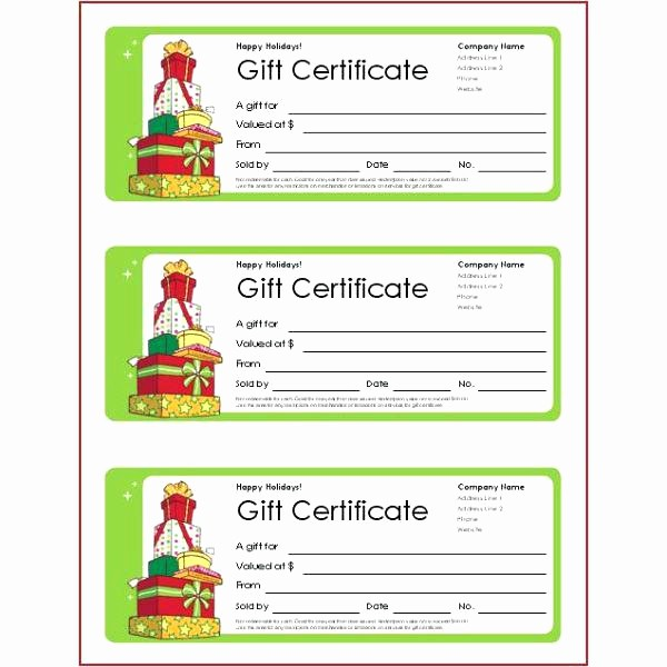 Making A Gift Certificate Free Inspirational Free Gift Certificate Template Printable Birthday