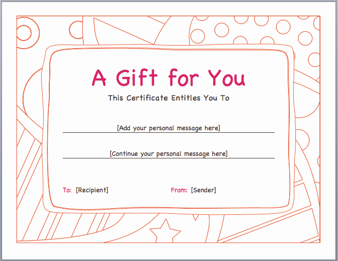 Making A Gift Certificate Free Lovely Gift Voucher Template Pdf