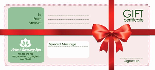Making A Gift Certificate Free New Free Holiday Gift Certificate Templates In Psd and Ai On