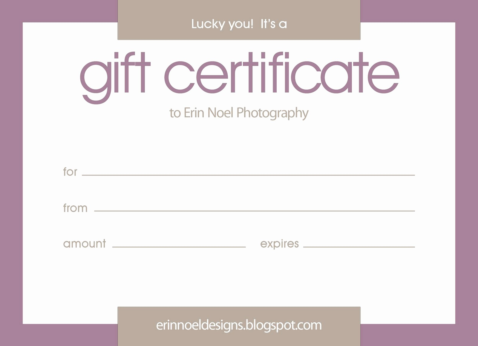 Making A Gift Certificate Free New Purple Gift Certificate Template