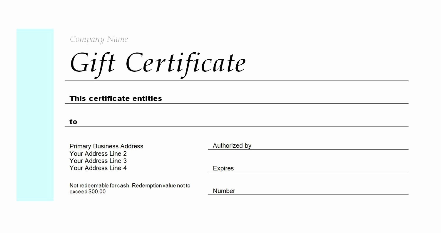 Making A Gift Certificate Free Unique Free Gift Certificate Templates You Can Customize
