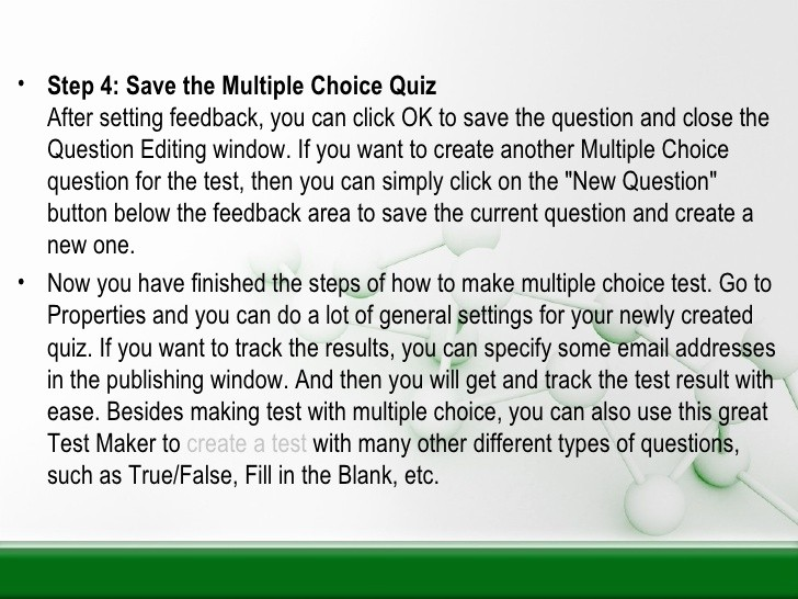 Making A Multiple Choice Test Beautiful Make Multiple Choice Test with Multiple Choice Quiz