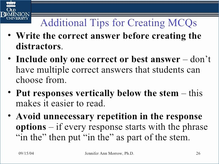 Making A Multiple Choice Test Beautiful Multiple Choice Test Taking Tips Powerpoint
