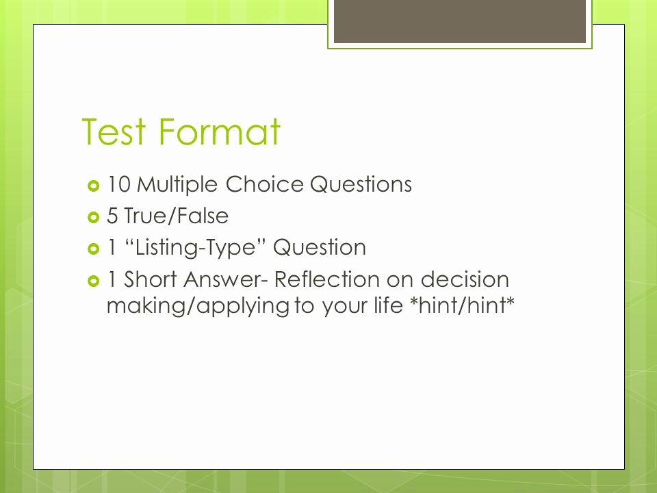 Making A Multiple Choice Test Fresh Substance Abuse and Use Ppt Video Online