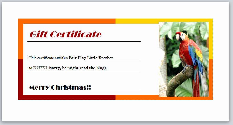 Making Gift Certificates Online Free Inspirational Free Babysitting Certificate Christmas Gift