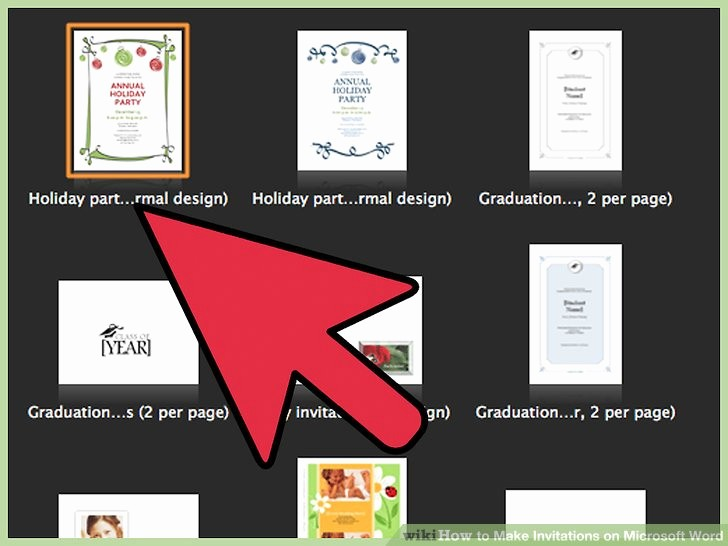 Making Invitations On Microsoft Word Awesome How to Make Invitations On Microsoft Word 10 Steps