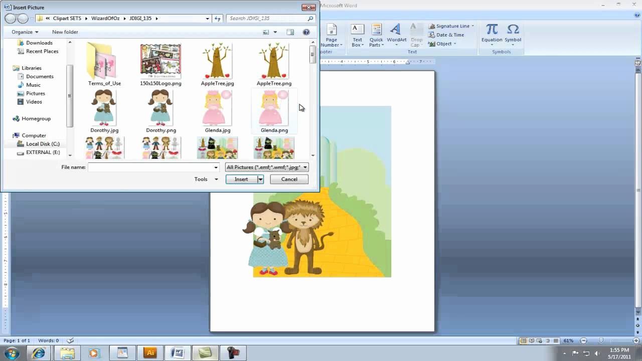 Making Invitations On Microsoft Word Beautiful Creating Invitation Using Clipart In Microsoft Word