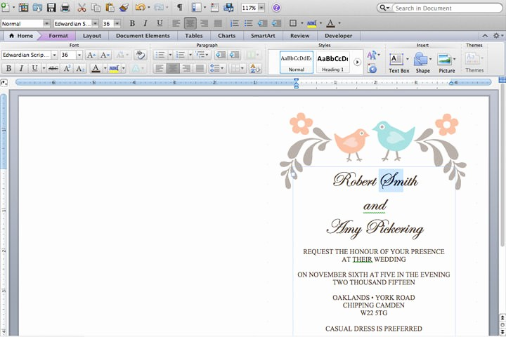 Making Invitations On Microsoft Word Beautiful Diy Tutorial Free Printable Invitation and Rsvp Card